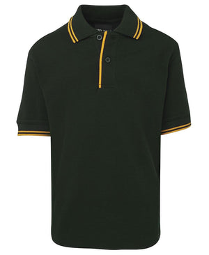 JB's Wear-JB's Kids Contrast Polo-Bottle/Gold / 4-Uniform Wholesalers - 8