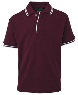 JB's Wear-JB's Kids Contrast Polo-Maroon/White / 4-Uniform Wholesalers - 10