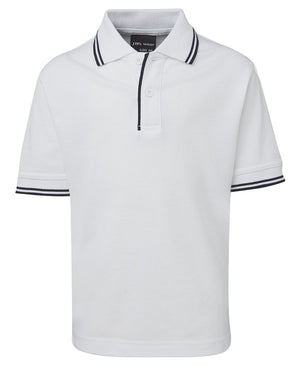 JB's Wear-JB's Kids Contrast Polo-White/Navy / 4-Uniform Wholesalers - 16