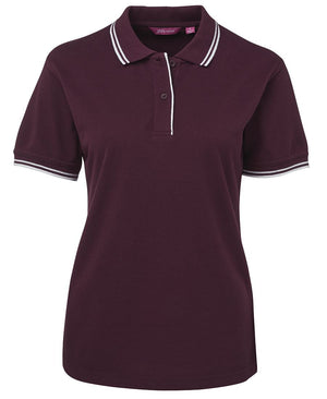 JB's Wear-Jb's Ladies Contrast Polo 1st ( 7 Color )-Maroon/White / 8-Uniform Wholesalers - 9