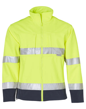 Winning Spirit Two Tone Softshell Safety Jacket With 3M Reflective Tapes (SW29)