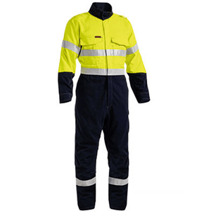 Bisley Tencate Tecasafe® Plus Taped 2 Tone Hi Vis Engineered Vented Coverall (BC8086T)