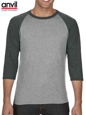 Anvil Tri-Blended 3/4 Raglan Tee (6755)
