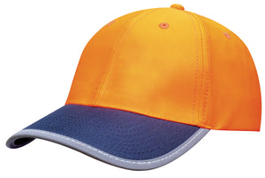 Headwear Luminescent Safety Cap with Reflective Trim (3021)