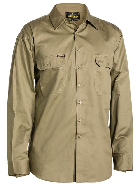 Bisley Cool Lightweight Drill Shirt - Long Sleeve (BS6893)