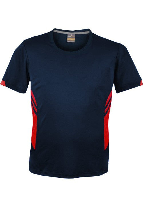 Aussie Pacific-Aussie Pacific Kids Tasman Tee(2nd 13 Colors)-4 / Navy/Red-Uniform Wholesalers - 2