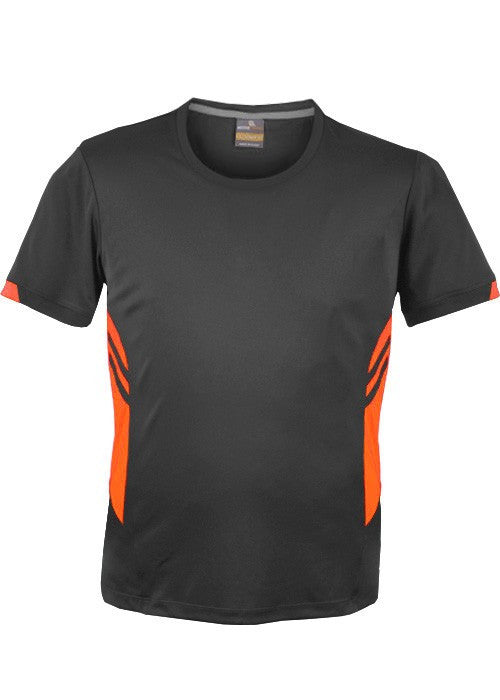 Aussie Pacific-Aussie Pacific Kids Tasman Tee(3rd 3Colors)-4 / Slate/Neon Orange-Uniform Wholesalers - 2