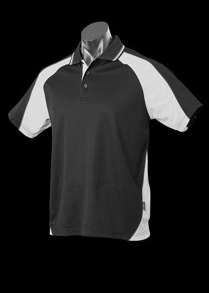 Aussie Pacific-Aussie Pacific Kid's Panorama Polo-Black/White/Ashe / 4-Uniform Wholesalers - 9