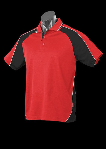 Aussie Pacific-Aussie Pacific Kid's Panorama Polo-Red/Black/White / 4-Uniform Wholesalers - 13
