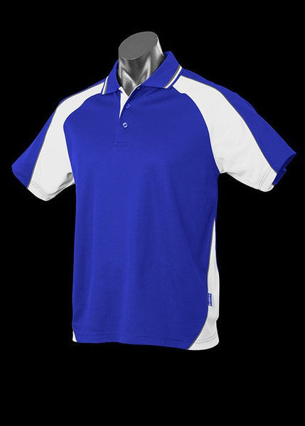 Aussie Pacific-Aussie Pacific Kid's Panorama Polo-Royal/White/Ashe / 4-Uniform Wholesalers - 14