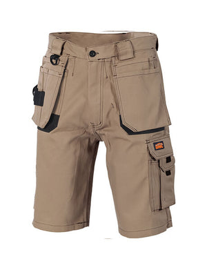 DNC Duratex Cotton Duck Weave Tradies Cargo Shorts - with twin holster tool pocket (3336)