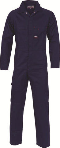 DNC Workwear-DNC Patron Saint Flame Retardant Drill Overalls-77R / Navy-Uniform Wholesalers