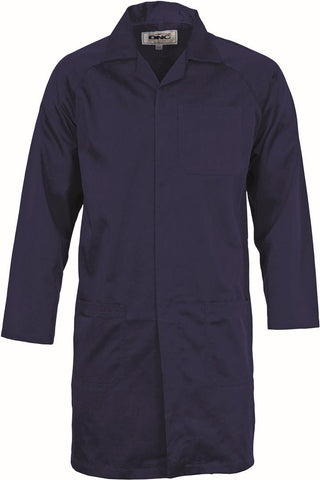 DNC Workwear-DNC Polyester Cotton Dust Coat-Navy / 87R-Uniform Wholesalers - 1