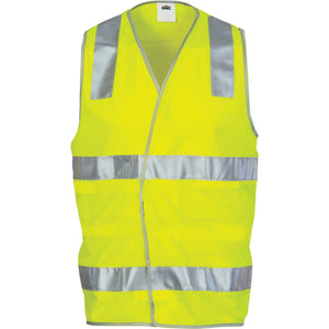 DNC Day/Night Safety Vest with Hoop & Shoulder Generic R/Tape (3503)