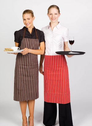 Ramo-Ramo Stripe Apron - Full Bib--Uniform Wholesalers - 1