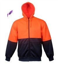Bocini-Bocini Hi-Vis Fleece Jacket-Orange/Navy / S-Uniform Wholesalers - 1