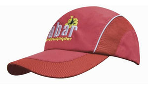 Headwear-Headwear Spring Woven Fabric with Mesh to Side Panels and Peak--Uniform Wholesalers - 1