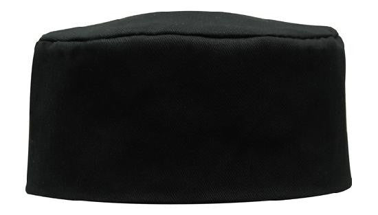 Headwear-Headwear Poly Cotton Chefs Hat-Black / S/M-Uniform Wholesalers - 2
