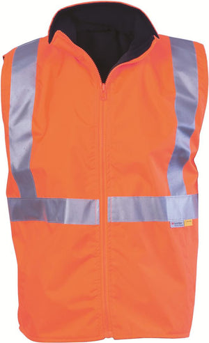 DNC Workwear-DNC HiVis Reversible Vest and 3M R/Tape > 300D-Orange/Navy / S-Uniform Wholesalers - 1