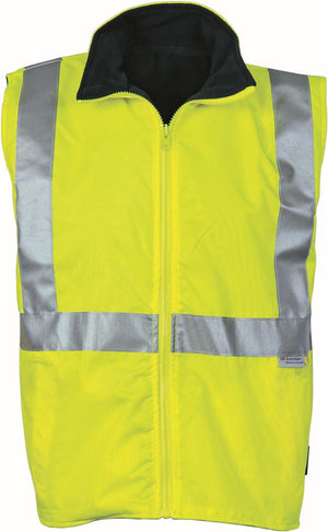 DNC Workwear-DNC HiVis Reversible Vest and 3M R/Tape > 300D-Yellow/Navy / S-Uniform Wholesalers - 2