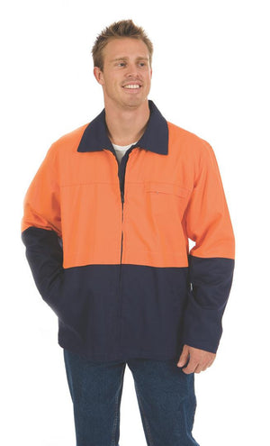 DNC Workwear-DNC HiVis Two Tone Protector Drill Jacket > 311 gsm Heavyweight--Uniform Wholesalers - 1