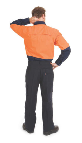 DNC Workwear-DNC HiVis 3 Way Cool-Breeze L/S Cotton Shirt--Uniform Wholesalers - 1
