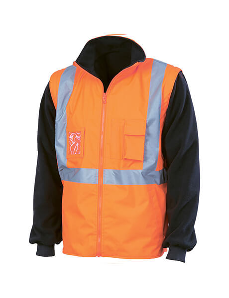 "DNC HiVis Cross Back D/N ""6 in 1"" jacket (Outer Jacket And Inner Vest Can Be Sold Separately)  (3997)"