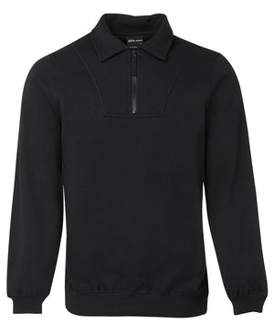JB's Wear-JB's  Adults Half Zip Fleecy Sweat-Black / S-Uniform Wholesalers - 2
