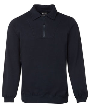 JB's Wear-JB's  Adults Half Zip Fleecy Sweat-Navy / S-Uniform Wholesalers - 4