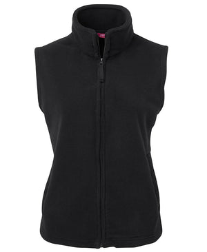 JB's Wear-JB's Ladies Polar Vest-8 / Black-Uniform Wholesalers - 2