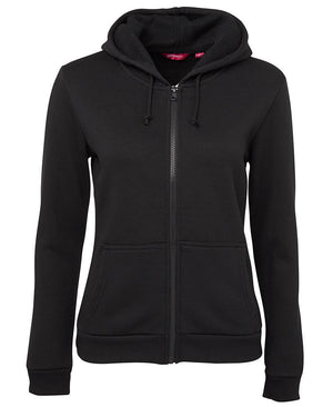JB's Wear-JB's  Ladies P/C Full Zip Hoodie-Black / 8-Uniform Wholesalers - 1