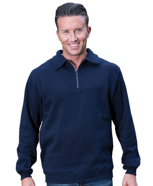 JB's Wear-JB's  Adults Half Zip Fleecy Sweat--Uniform Wholesalers - 1