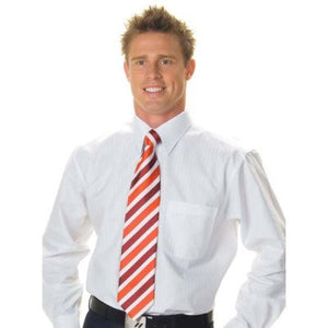 DNC Workwear-DNC Mens Tonal Stripe Shirt, Long Sleeve--Uniform Wholesalers - 1