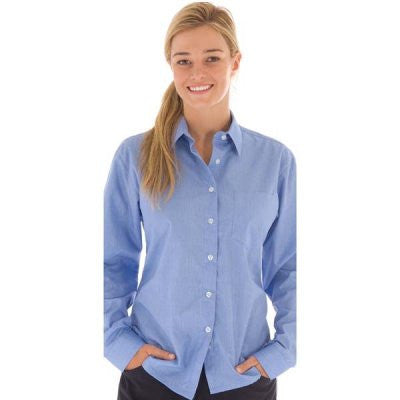 DNC Workwear-DNC Ladies Chambray Shirt, Long Sleeve--Uniform Wholesalers - 1