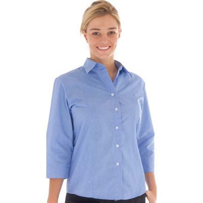 DNC Workwear-DNC Ladies Chambray Shirt, Sleeve--Uniform Wholesalers - 1