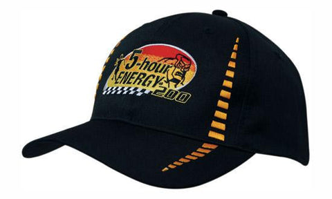 Headwear-Headwear Breathable Poly Twill with Small Check Patterning Cap--Uniform Wholesalers - 1