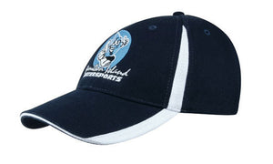 Headwear-Headwear  Brushed Heavy Cotton with Inserts on the Peak & Crown--Uniform Wholesalers - 1