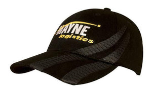 Headwear-Headwear Brushed Heavy Cotton with Tyre Tracks Cap--Uniform Wholesalers