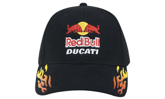 Headwear Brushed Heavy Cotton with Sonic Weld Flames Cap (4016)