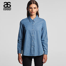 Ascolour Womens Blue Denim Shirt - 4042
