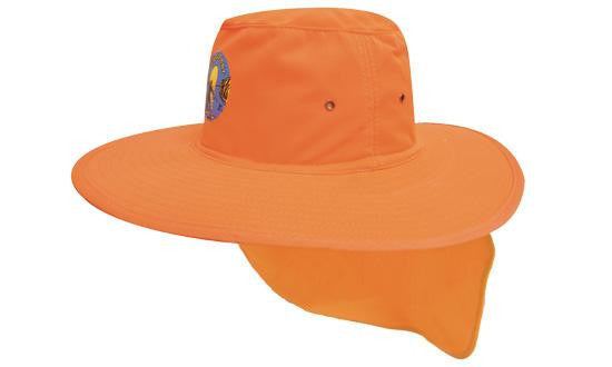 Headwear-Headwear Canvas Sun Hat-Fluro/Orange / S-Uniform Wholesalers - 1