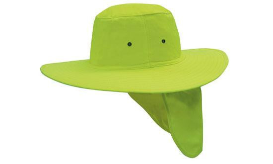 Headwear-Headwear Canvas Sun Hat-Fluro/Green / S-Uniform Wholesalers - 2