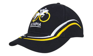 Headwear-Headwear Brushed Heavy Cotton with Curved Embroidery on Crown and Peak--Uniform Wholesalers - 1