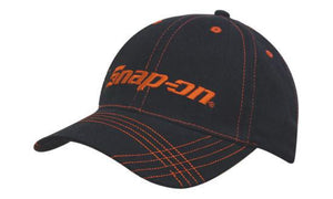 Headwear-Headwear Brushed Heavy Cotton with Contrasting Stitching & Cross Stitched Peak--Uniform Wholesalers - 1