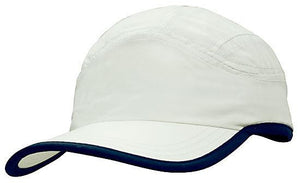 Headwear-Headwear Microfibre Sports Cap with Trim on Edge of Crown & Peak Cap--Uniform Wholesalers - 6