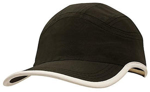 Headwear-Headwear Microfibre Sports Cap with Trim on Edge of Crown & Peak Cap--Uniform Wholesalers - 2
