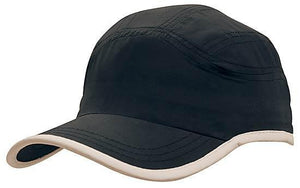Headwear-Headwear Microfibre Sports Cap with Trim on Edge of Crown & Peak Cap--Uniform Wholesalers - 4