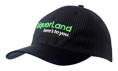 Headwear-Headwear Heavy Cotton with Woven Pinstripe--Uniform Wholesalers