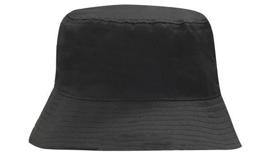 Headwear-Headwear Breathable Poly Twill Bucket Hat-Black / M-Uniform Wholesalers - 2
