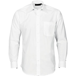 DNC Workwear-DNC Polyester Cotton L/S Business Shirt-S / White-Uniform Wholesalers - 3